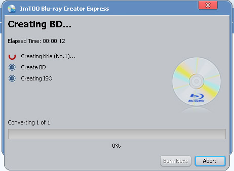 How to create Blu-ray ISO image file from common video files?