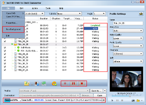 ImTOO DVD to DivX Converter Guide - Extract file