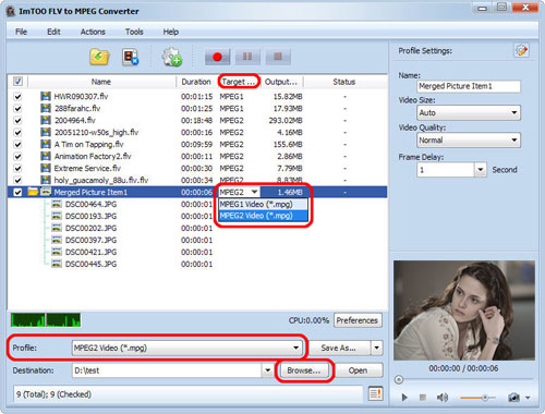 ImTOO FLV to MPEG Converter