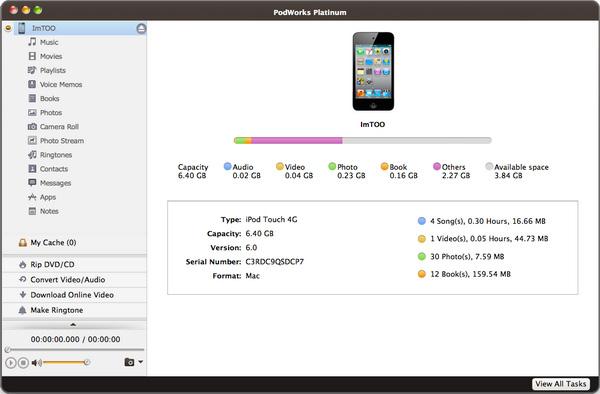 estrarre dati da ipod su mac