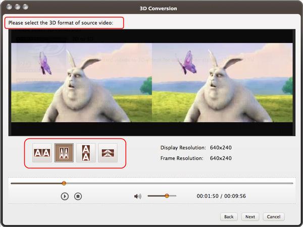 Convert 3D videos on Mac