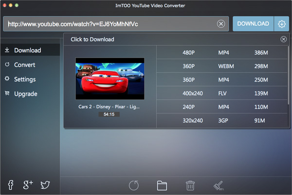 ImTOO Youtube Video Converter for Mac